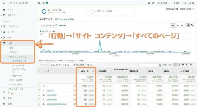 Googleアナリティクス分析-ページビュー